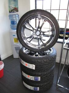 "18"" fast chrome rims with BF Goodrich low profile tires"