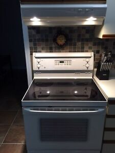 """30"""" GE stove and  Broan, Allure exhaust fan"""