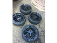 """5x100 BBS LM Reps 18"""" Alloys + Tyres"""