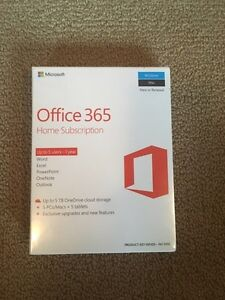 Office 365 Home Subscription (5 licenses)