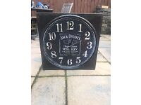 Large Rustic Jack Daniels Decorative Clock
