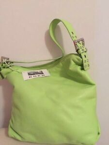 Lime Green Genuine Leather Purse