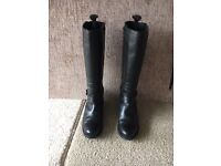 Ladies Leather Boots Clarks Size 5
