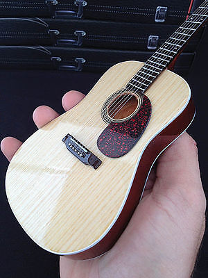 Natural Finish Acoustic Model Miniature Guitar Replica Collectible NEW 000124294