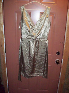 Lindy Bop gold satin dress never worn.