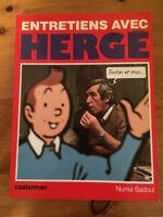 Livre Tintin Entretiens avec Hergé Numa Sadoul Casterman 1983