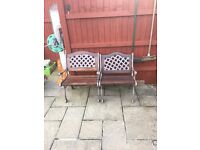 Cast iron garden chairs for sale