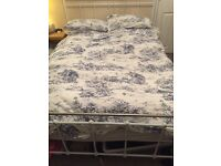 Double bed - frame and mattress