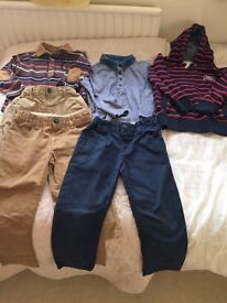 Bundle of like new boys trousers and tops outfits from autograph age 3