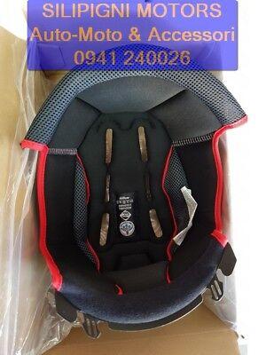 Interno Casco Imbottitura Cuffia NOLAN N104 / EVO / ABSOLUTE Black-Red - TG.XS-S