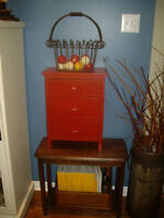 DRESSER,SALES MAN SAMPLE SIZE,VINTAGE,ROASTED PEPPER RED