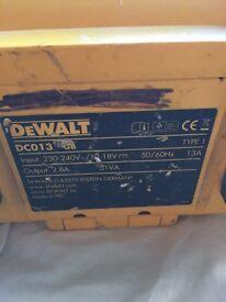 DEWALT radio dc013 (faulty)