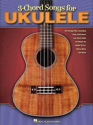 3-Chord Songs for Ukulele Sheet Music Ukulele Book NEW 000701900
