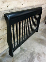Black Sleigh Bed (Double)