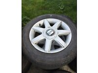 """15"""" alloys wheels 5x100 new tyres"""