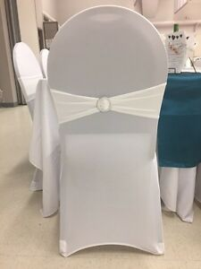 Ivory chair sashes with buckle Regina Regina Area image 2