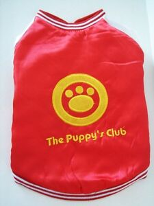 Small Medium Dog Puppy Coat / Overcoat / Jacket / Vest - Red