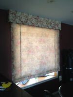 Custom made Roman Blinds
