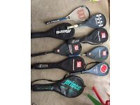 Squash and Badminton rackets