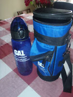 Golf-A-Round Leagues NEW Travel Water Bottle & Matching Bag
