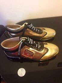 D&G gold men shoes uk9