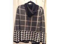 Ladies cape with hoody and arm hole
