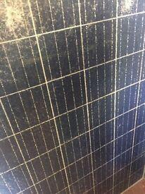 Solar panels glass damaged