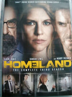 DVD's Homeland 3, Covert Affairs 5, Big Eyes Movie