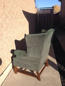 Green wingback chair Windsor Region Ontario image 4