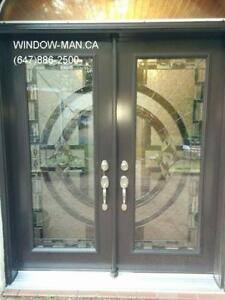 Entry Stained Entrance Glass Door  17 years of experience