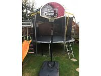 Basketball stand and hoop - full size.