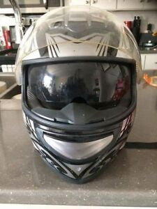 Grey DOT motorcycle helmet