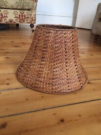 Wicker lampshade / pendant shade - perfect condition