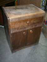 1930s BEDSIDE LAMP TABLE WITH DRAWER $40 SHABBY CHIC REFURBISH !