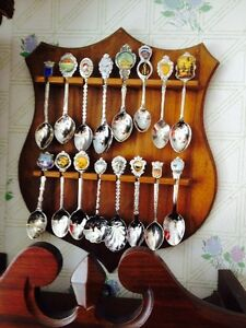 SOUVENIR SPOONS AND RACK