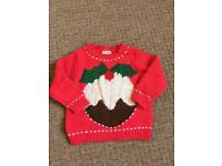 Girls Christmas jumpers X2