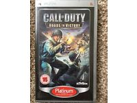 Sony PSP game Call of Duty Roads to Victory