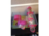 Hamster and Cage and accessories
