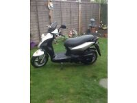 SYMPLY 125 SCOOTER GREAT COND NEW BATTERY MOT FEB FULL LOG BOOK CB5 £600