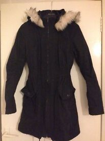WOMENS BLACK JANE NORMAN WINTER COAT
