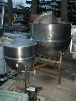 1 Stainless Steel Steam Jacketed Kettle