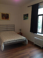 2mn walk to Berri-Uqam metro st; all inclusive+tv+wifi+cleaning