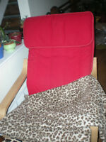 IKEA Red Poang Chair with Light wood Frame for Sale