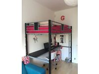 Bed with desk for sale