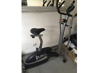 V-Fit Magnetic 2 in 1 Cycle Cross Trainer Exercise Bike