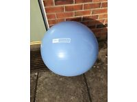 Pro fitness exercise ball & pump