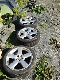 For sale 3 RS6'S 2 tyres ok other one done. 5x100 Bora golf Leon Toledo Audi etc