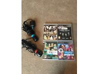 Singstar games and microphones for PlayStation 3.