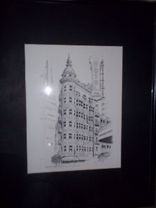 Signed print of the Sentinel building ,San Francisco