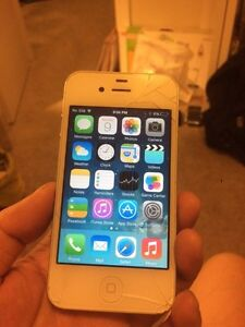 Telus iPhone 4 cracked but all functional with Apple ID lock